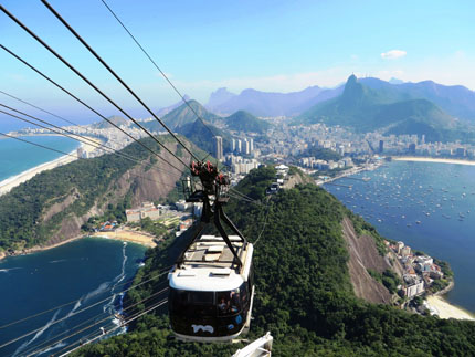 super vue telepherique pao de azucar rio